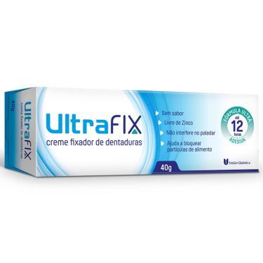 Creme Fixador de Dentadura UltraFix Sem Sabor União Química 40g