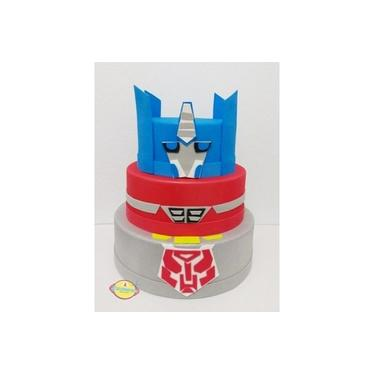 Bolo Fake Falso Para Festa No Tema Transformers B