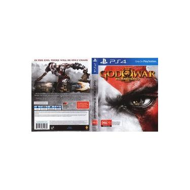Estojo Com Capa God Of War 3 Remaster Ps4 sem jogo