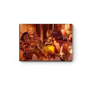 Quadro decorativo MDF Overwatch Roadhog e Junkrat
