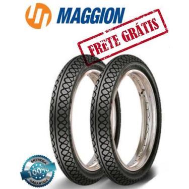 Par Pneu Moto 80/100/14 + 60/100/17 Biz 125 Pop 100 Maggion Streetfigt
