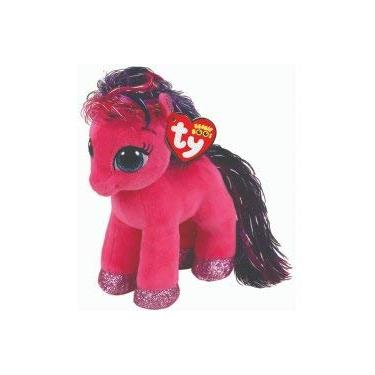 Imagem de Cavalo Ponei Pony Ruby Pelúcia Ty Beanie Boo 18cm Plush Original Raro