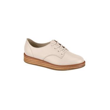 Sapato Oxford Beira Rio Napa Turim Creme 4235.201