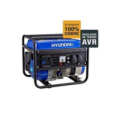 7a09ed5b33b Gerador de Energia HYUNDAI 1.2Kva Motor a gasolina com AVR