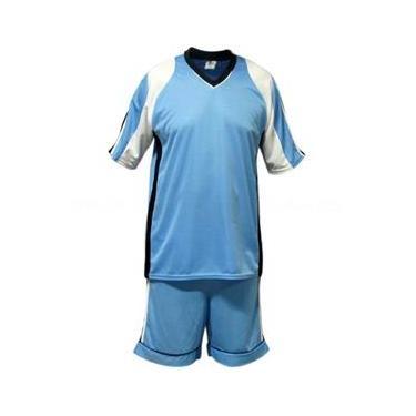 Uniforme Esportivo Texas 2 Camisa de Goleiro Florence + 20 Camisas Texas +20 Calções - Celeste x Branco x Preto