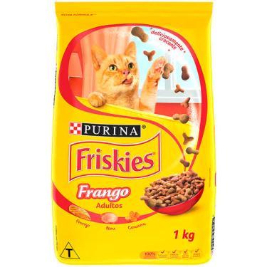 Ração Seca Nestlé Purina Friskies Frango para Gatos Adultos - 1 Kg