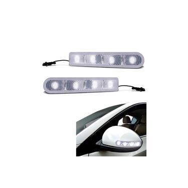 Pisca Seta Retrovisor 12V Slim Com 4 LEDs Seta o par Luz branca Ford Fiesta Trail 2007 2018 - 2009 1993 1996 - 1997