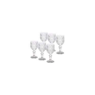 Imagem de Jogo 6 Taças 210 Ml Para Vinho De Vidro Starry Bon Gourmet