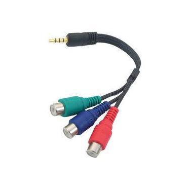 Cabo P3 Stereo + 3 Rca Femea Video Componente