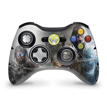 Skin Adesivo Para Xbox 360 Controle - Shadow Of Mordor