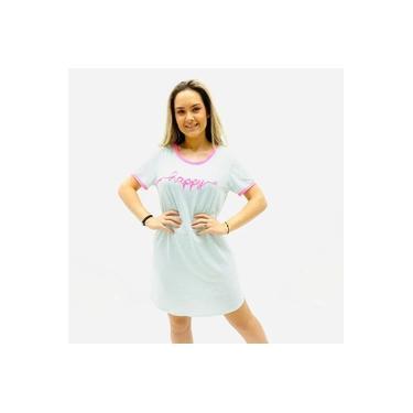 Camisola Recco Manga Curta Listras Viscoflex Rosa Neon Verde Feminina