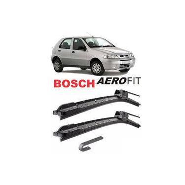 Par De Palhetas Dianteira Bosch Aerofit Limpador De Parabrisa - Fiat Palio 2001 A 2007