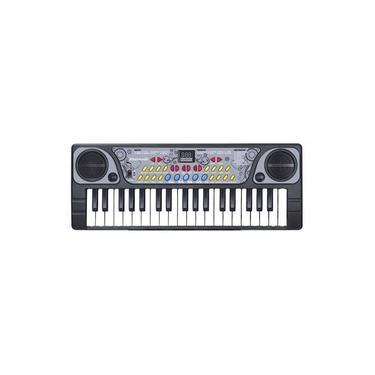 Teclado Piano Musical Infantil com Ritmos Microfone BX1622
