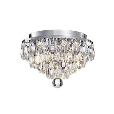 Lustre Luminaria Plafon Cristal Legítimo Transparente 27Cm