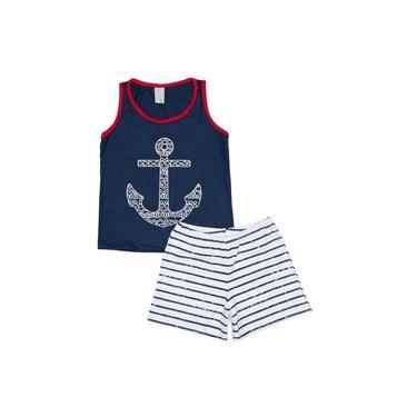 Pijama Infantil Marinha Santista - M - Marinho