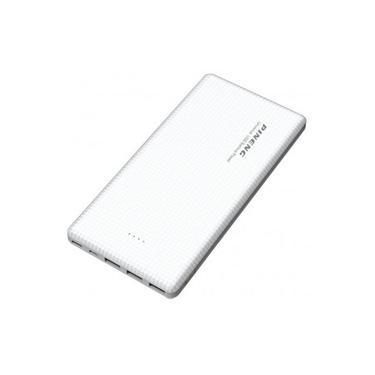 Carregador Portátil Pineng 20000mah Slim Branco Compativel Iphone 5s, 6s, 7, 8 e X