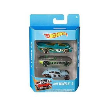 Imagem de Kit Hot Wheels Miniaturas C/3 Carrinhos Sortidos Mattel