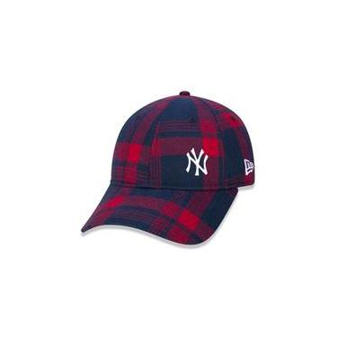 Bone 9Twenty New York Yankees Mlb Aba Curva Strapback Vermelho New Era