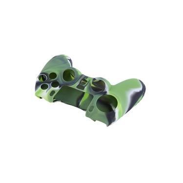 Case Capa De Silicone Para Controle Dualshock 4 Playstation 4 Ps4 - Verde/Cinza/Preto Camuflado
