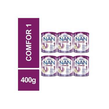 Fórmula Infantil NAN Comfor 1 Nestlé 400g Lata Kit 6un