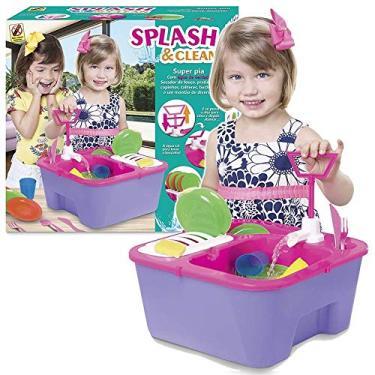 Imagem de Super Pia Infantil Lava Louca Sai Agua Loucinha Splash Clean
