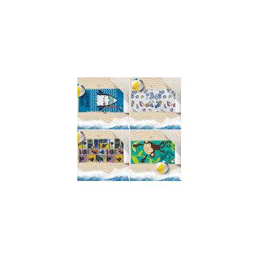 Imagem de Kit 4 Toalhas De Praia 60Cm X 1,10M Infantil Anti Areia Meninos - Bene Casa