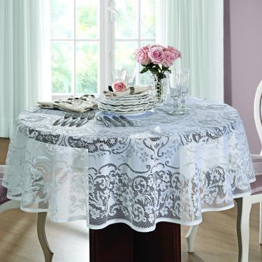 Imagem de toalha mesa lepper redonda renda rosas