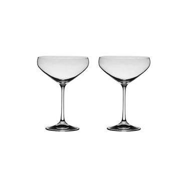 Jogo 2 Taças De Cristal Para Cocktail 340ml Bar Bohemia