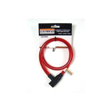 Cadeado para bicicleta com cabo de aço Starfer 80cm x 12mm