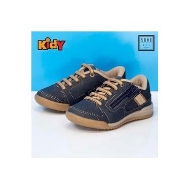 Sapatenis Kidy Marinho/Taupe Infantil 11701544495