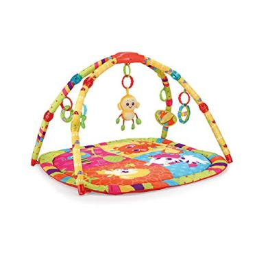 Imagem de Tapete Infantil Musical Colorido Macaco, Mastela, Multicolorido, Médio