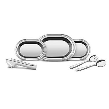 Imagem de Kit para Servir Aço Inox com 6 Peças Tramontina Ciclo Prata