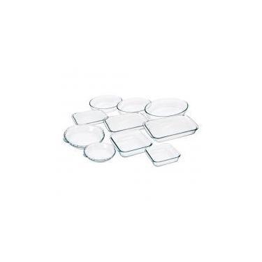 Conjunto de Assadeiras de Vidro 10 Peças - Marinex - Duralex/marinex