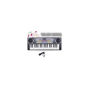 Imagem de Piano Teclado Infantil Instrumento De Brinquedo 8 Ritmos