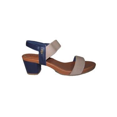 Sandália Usaflex – Feminino – Couro – Azul / Marfim - Ref.: Y8204