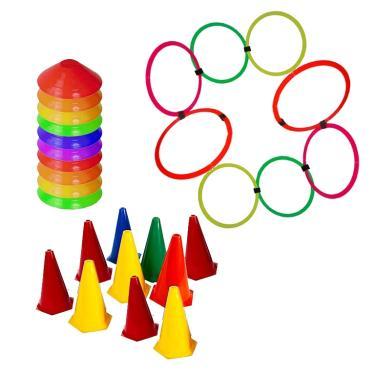 Kit 10 Cones + 10 Half Cone + 8 Argolas Funcional Rythmoon