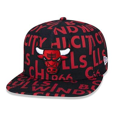 BONE 9FIFTY ORIGINAL FIT NBA CHICAGO BULLS LOGOMANIA ALL BIG VERMELHO/PRETO