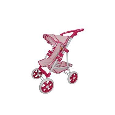 Imagem de Carrinho Luxo Premium Shine Princess Para Boneca Brinquedo Reborn Rosa Bebê
