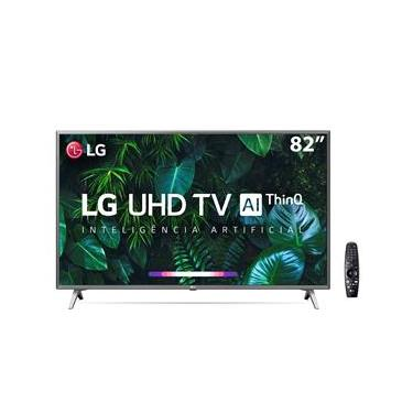 "Smart TV LED 82"" UHD 4K LG 82UN8000PSB Wi-Fi, Bluetooth, HDR, Inteligência Artificial ThinQ AI, Google Assistente, Alexa, Controle Smart Magic - 2020"