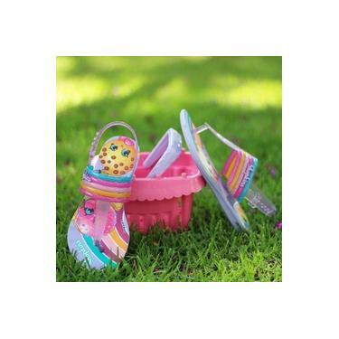 Sandalia Shopkins Grendene Violeta/Rosa Infantil 21922-Colorfull