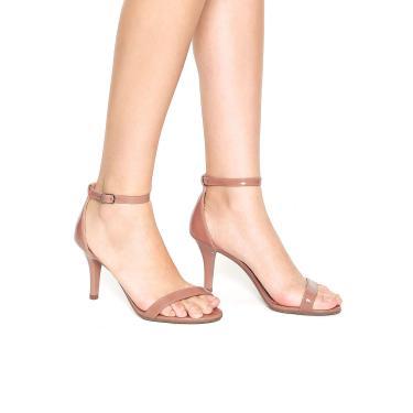 0223e2b677 Sandália DAFITI SHOES Salto Alto Fino Nude Dafiti Shoes 5097-50708 feminino