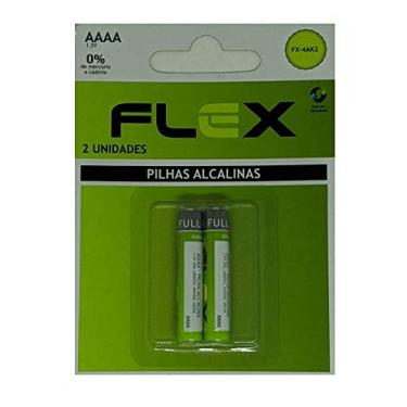Blister 2 Pilhas AAAA Alcalinas Flex 1.5v - FX-4AK2