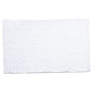 """Imagem de """"N/A"""" O tapete de banheiro absorve água e antiderrapante de pelúcia curta 40 × 60 cm (em estoque) branco."""
