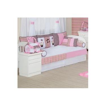 488d792b58 Kit Bicama Quarto Enxoval Bebê Menina Patricinha 10 Peças Rosa