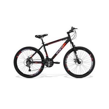 Bicicleta GTS Aro 26 Quadro 13.5 Freio a Disco Câmbio Traseiro Shimano 21 Marchas Amortecedor e Velocímetro
