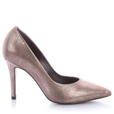 Scarpin Paula Brazil 9398 Napa Bronze (Suede Cristal Prata Velho- Loja itp) Bronze - 38