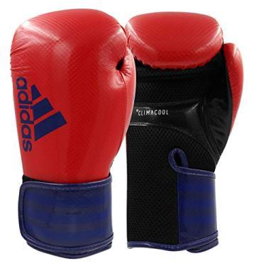 Luva de Boxe Adidas Hybrid 65 - Vermelho e Azul-14oz