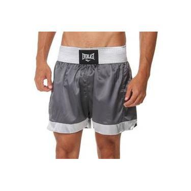 Shorts Muay Thai Chumbo Com Prata Et20119b Everlast