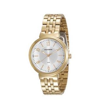 3fa431b230c Relógio Feminino Analógico Mondaine 94972LPMVDE1 - Dourado