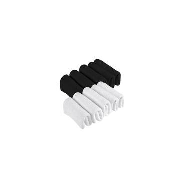 Imagem de Kit 3 Toalhas De Rosto Para Salão Simples 2 Brancas 1 Preta